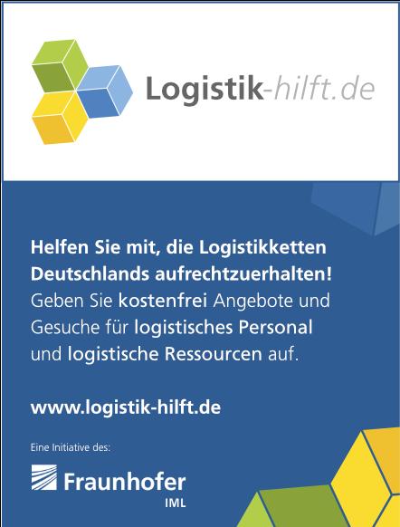 Banner von Logistik-hilft.de, eine Initiative des Fraunhofer IML
